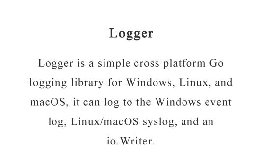 Cross platform Go logging library
