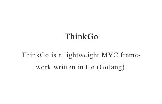 A lightweight MVC framework written in Go