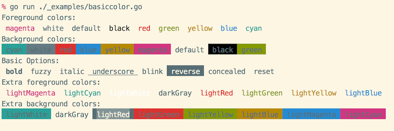 A command-line color library with true color support