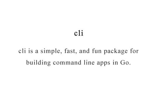 A simple and fun package for building command line apps in Go
