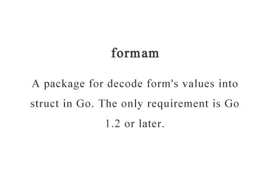 A package for decode form's values into struct in Go