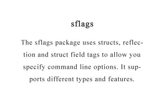Generate flags by parsing structures