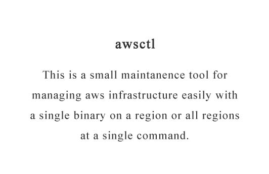 Control AWS infrastructure easily from a single command line written in Go
